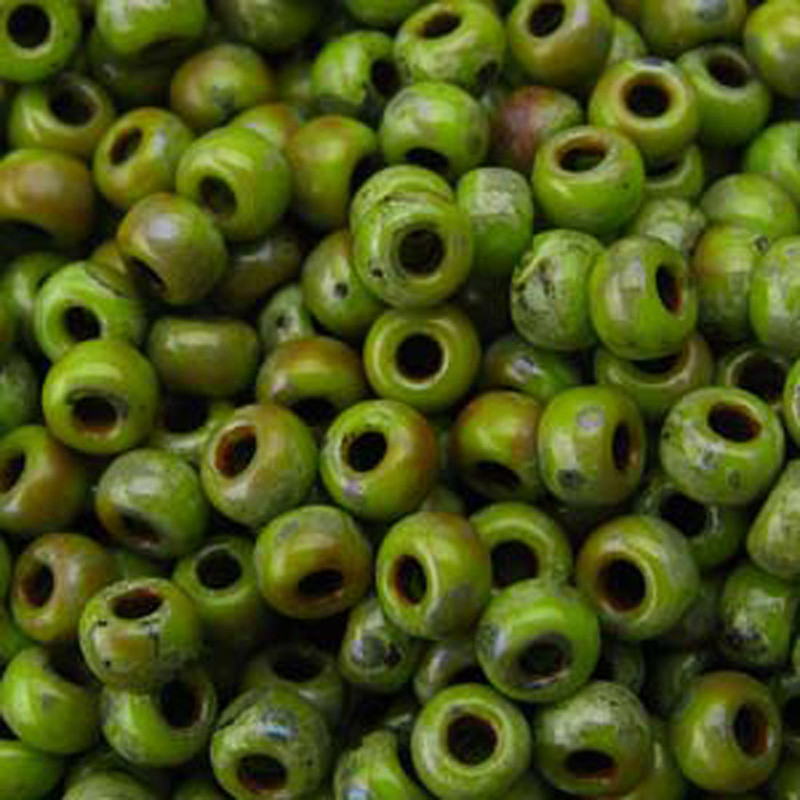 Matte Picasso Chartreuse Miyuki 6/0 Seed Bead 20 Gram