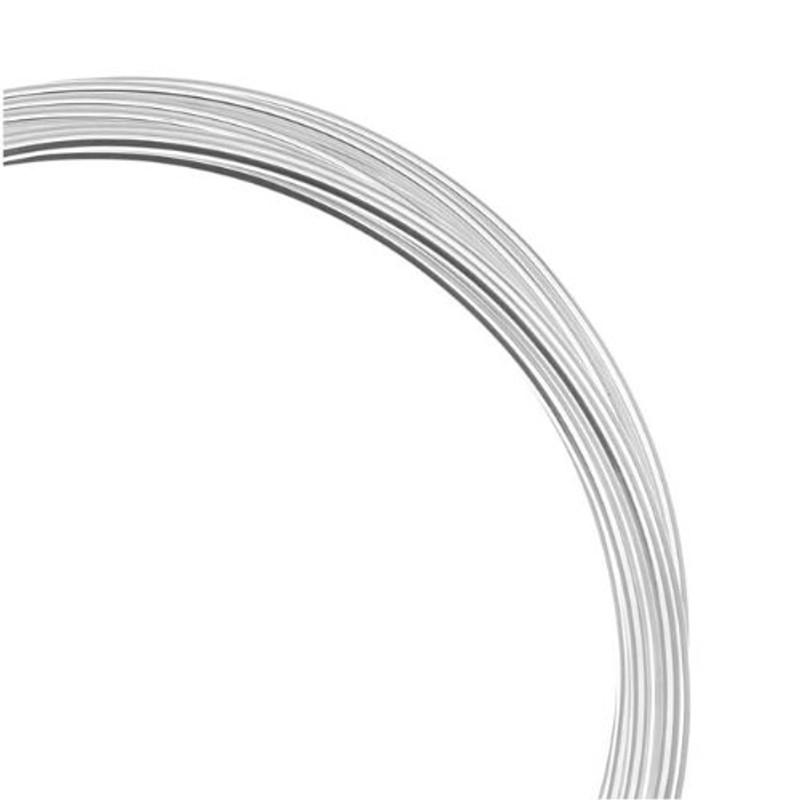 Silver Plated German Bead Craft Wire 22 Gauge .6 Dia 10 Meters