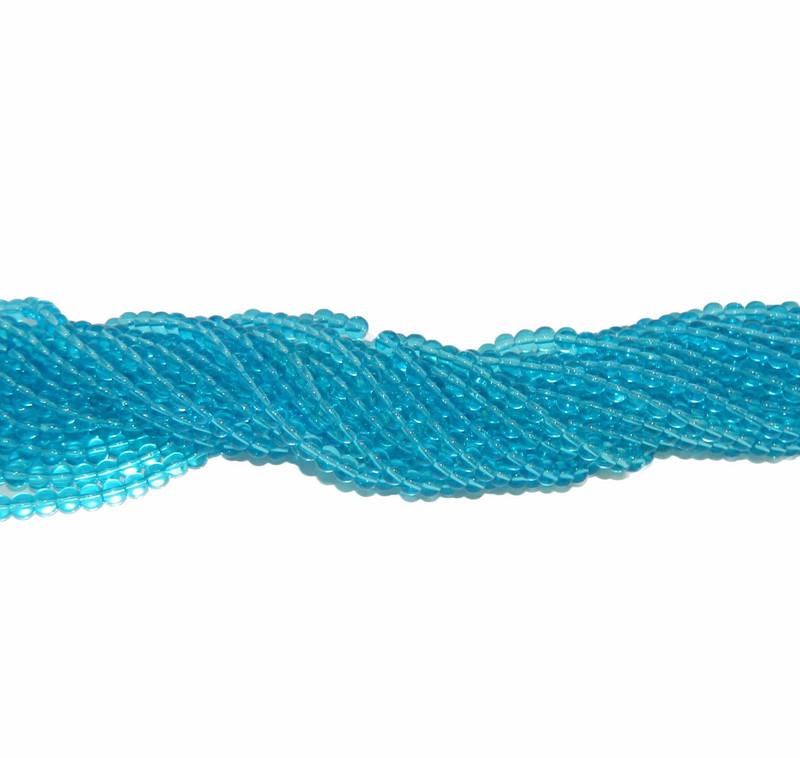 "6mm Aqua Quarts Manmade Gemstone beads Round Beads 15"" Loose Strand"