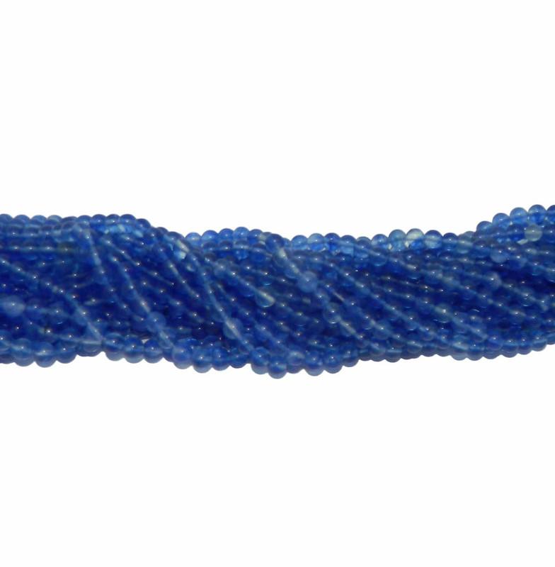 "6mm Bluebarry Quarts Manmade Round Beads 40cm 15"" Gemstone"