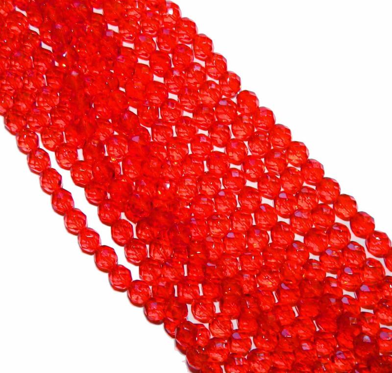 48 Firepolish Faceted Czech Glass Beads 4mm Hyacinth
