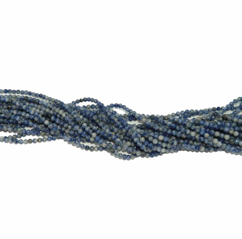 """4mm Denim Lapis Natural  Round Beads 40cm 15""""  Stone B2-4b27"""