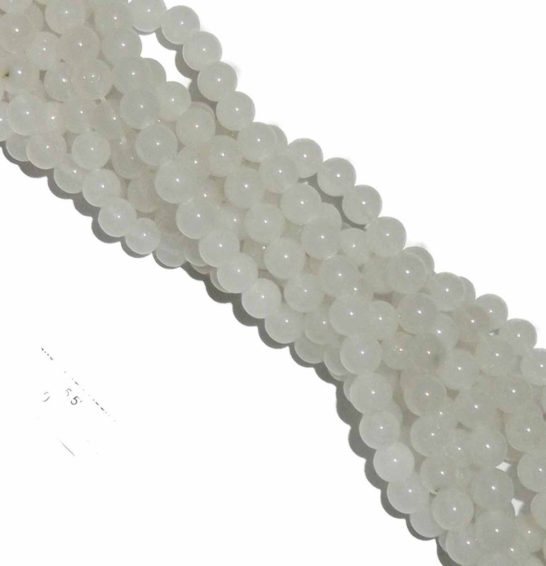 "12mm Snow Jade Round Beads 40cm 15"" Gemstone"