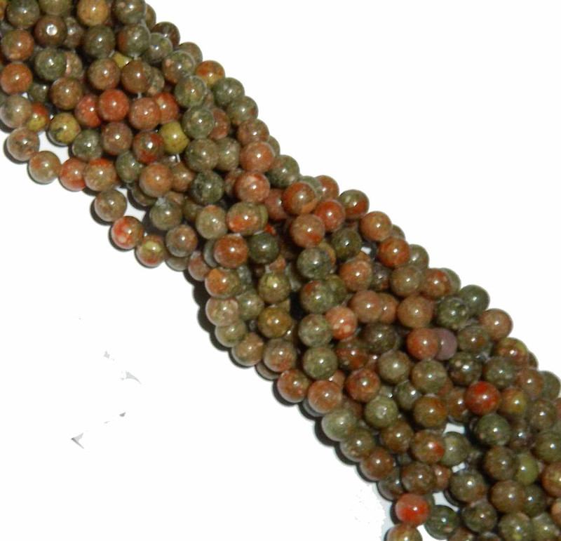 "10mm Epidot Jasper  Round Beads 40cm 15"" Gemstone"