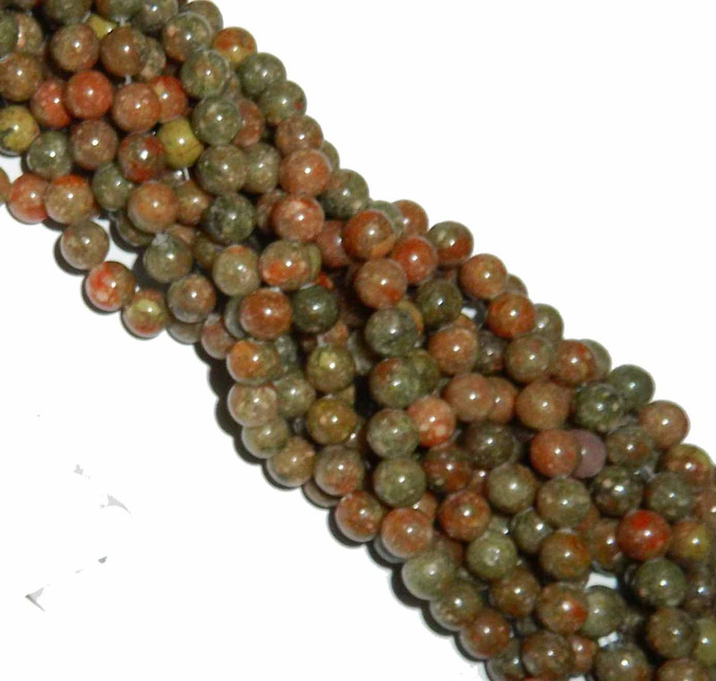"12mm Epidot Jasper  Round Beads 40cm 15"" Gemstone"