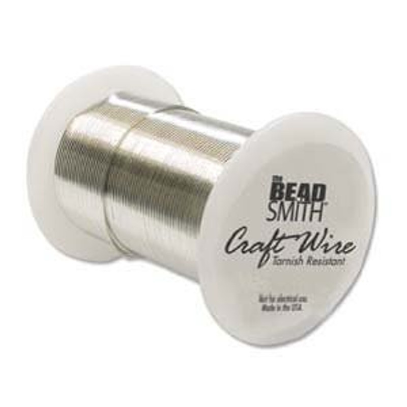 Tarnish Resistant Craft Wire 22 Gauge, Silver Color