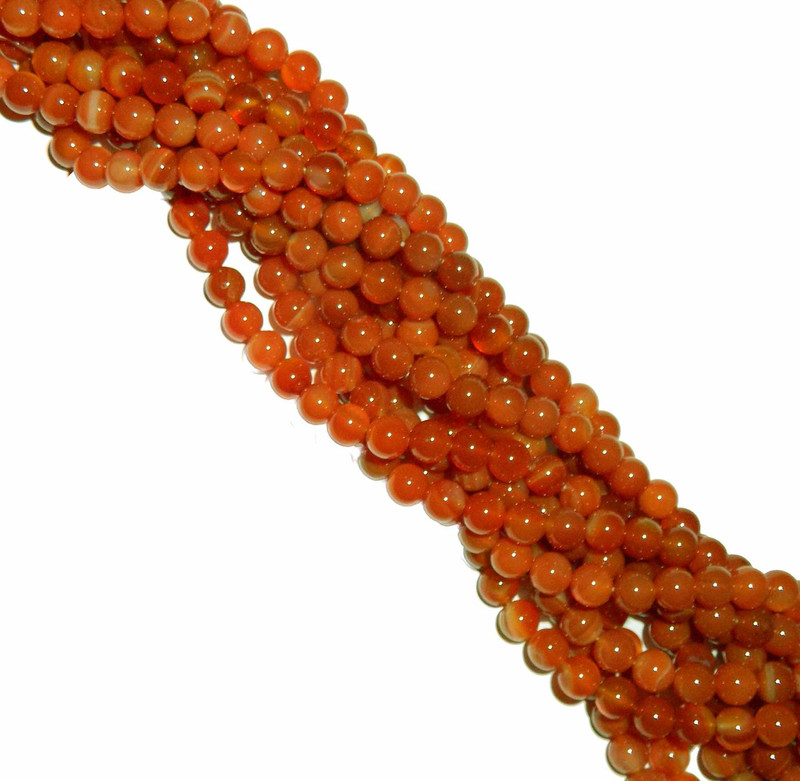 "8mm Carnelian round Gemstone Beads 15"" loose Strand"