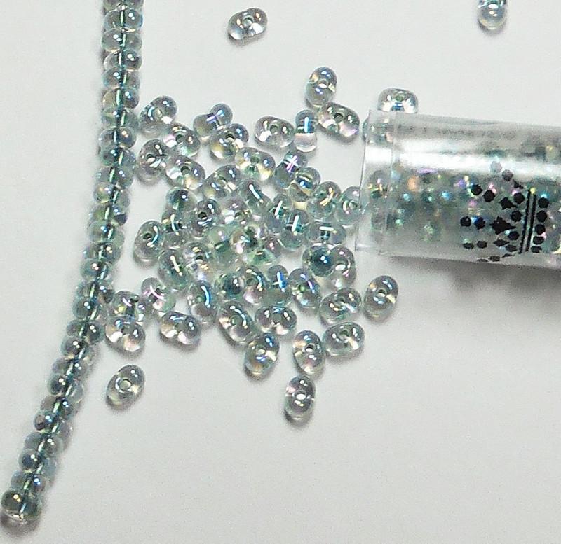 Seafoam Lined Crystal Ab Miyuki Berry Bead 2.5x4.5mm Seed Bead Glass 22 Gram
