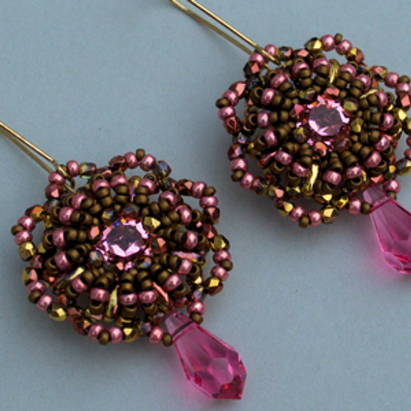 Wheel of Fortune Earrings - Free Jewelry Making Project complements of Bead Smith(R)