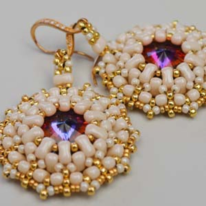 BI-BO EARRINGS- Free Jewelry Making Project complements of Bead Smith(R)