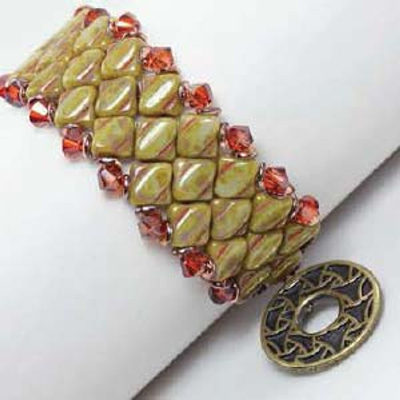 SILKY WATCH CUFF - Free Jewelry Making Project complements of Bead Smith(R)