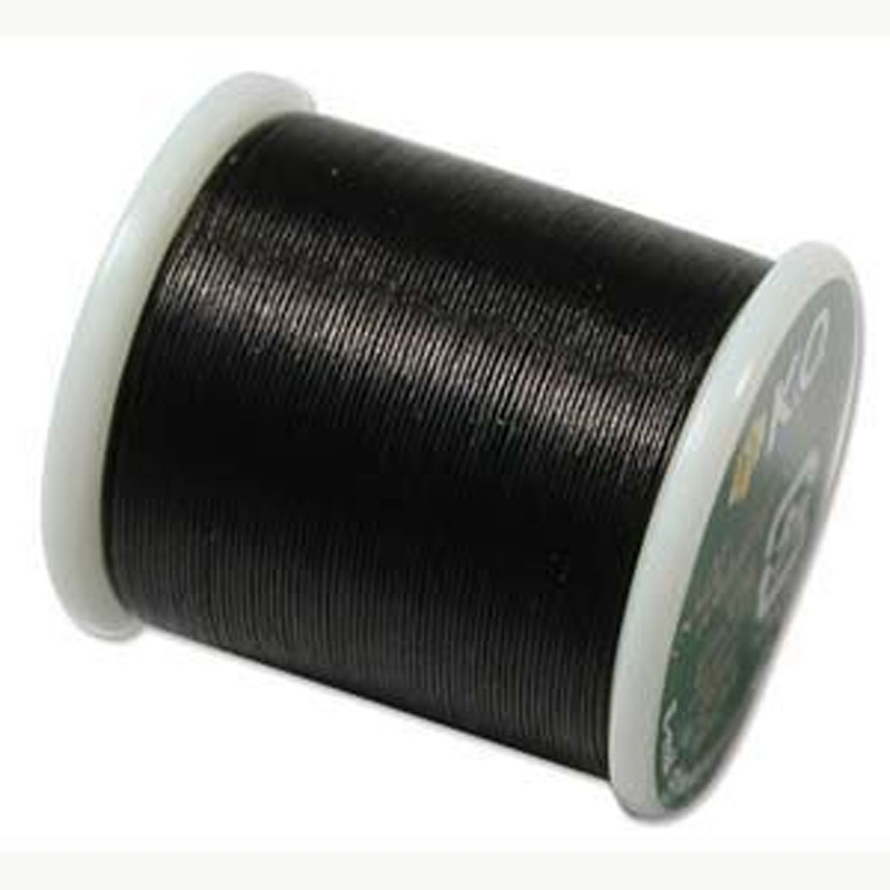 Japanese Nylon Beading Thread by KO for Delica Beads BLACK KO999
