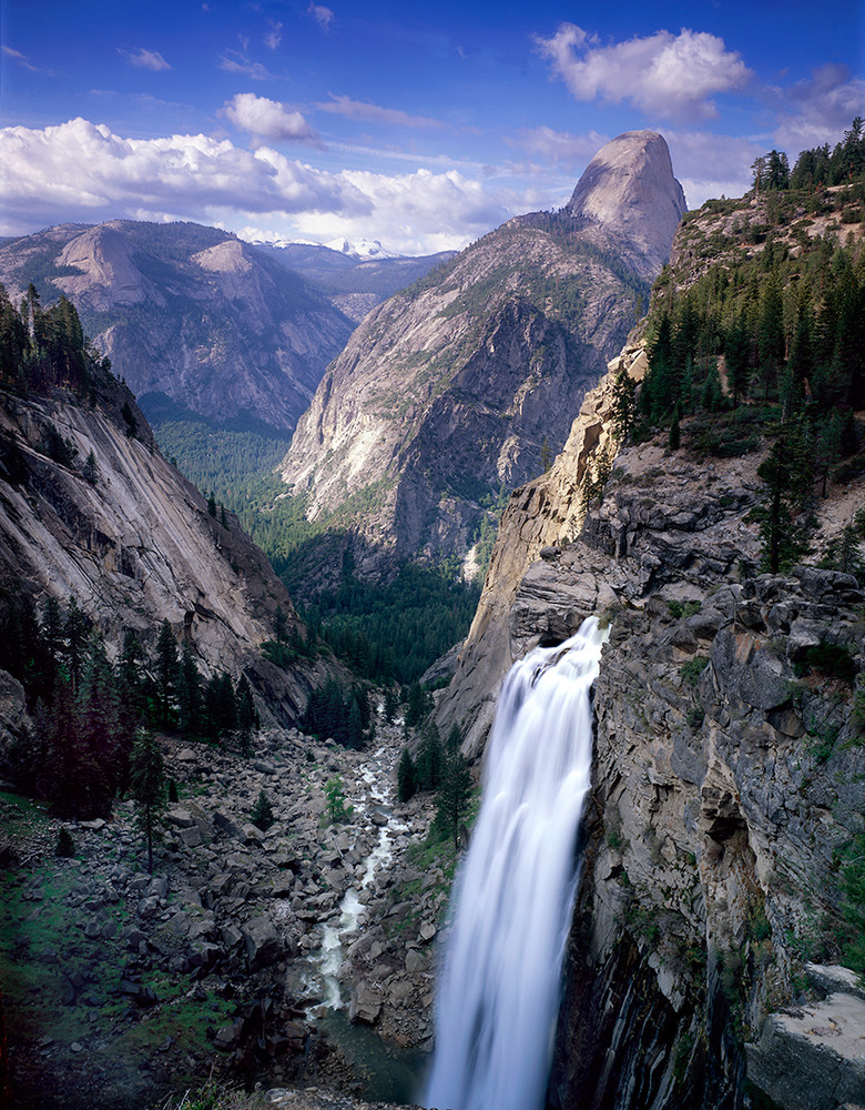 Half Dome and Illilouette Falls