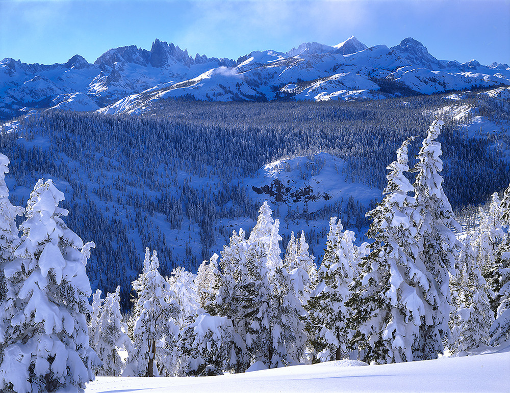 Winter - The Minarets and Mount Ritter