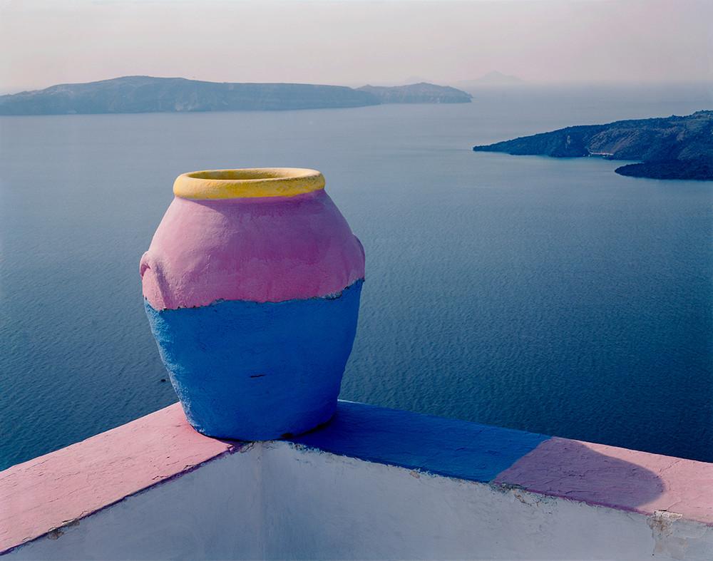 Pink Pot of Santorini