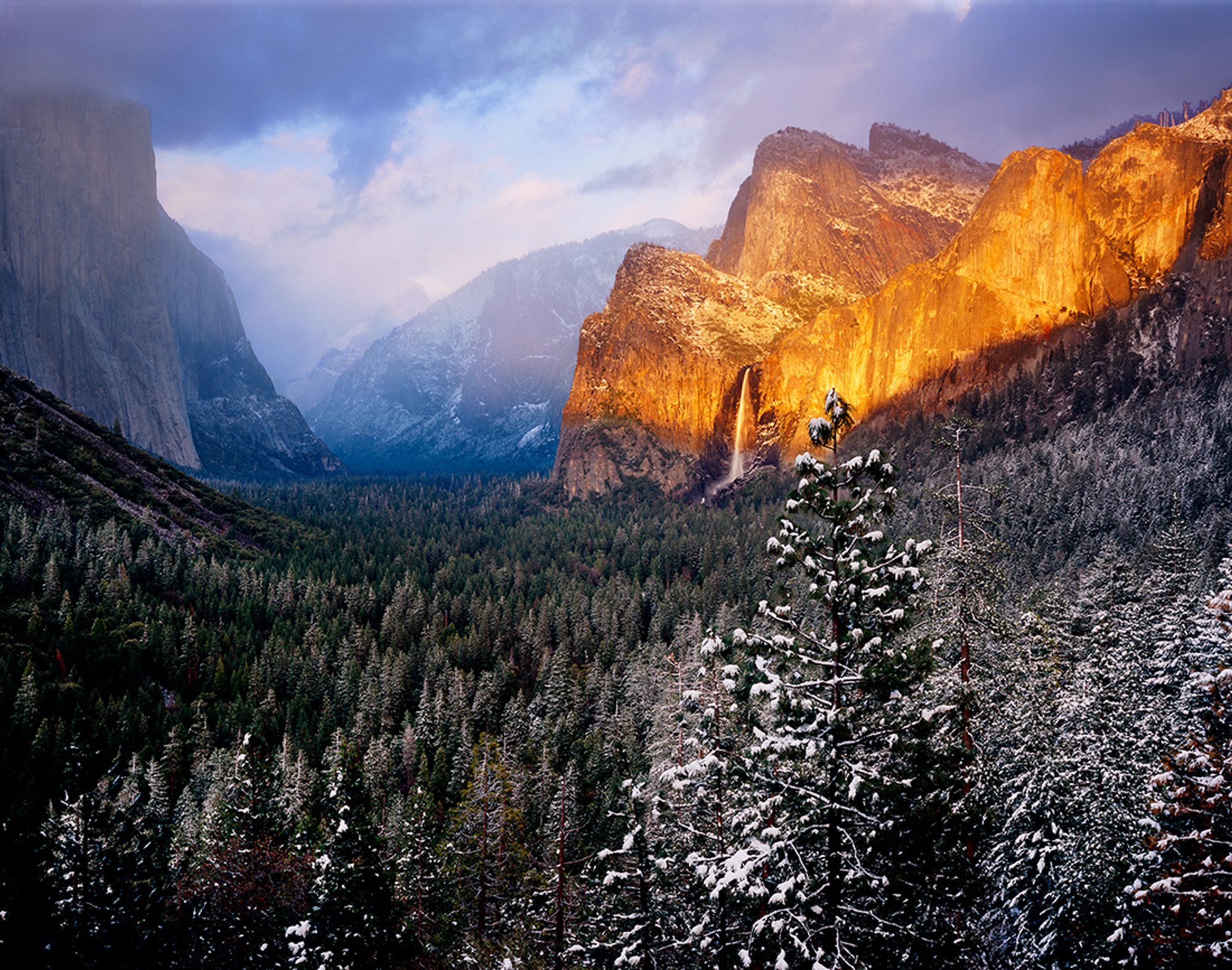 Yosemite Valley View In March Vern Clevenger Photography