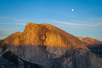 Full June Moonrise over Half Dome