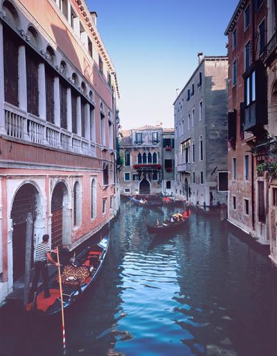 Gondolas along the Rio di S. Moise'