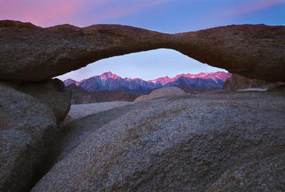 Sunrise, Lathe Arch and Mount Whitney