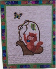 Cat and The Basket Baby Quilt