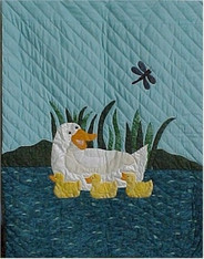 Keeping Her Ducks In A Row Baby Quilt