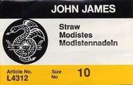John James Straw Needles Sz 10