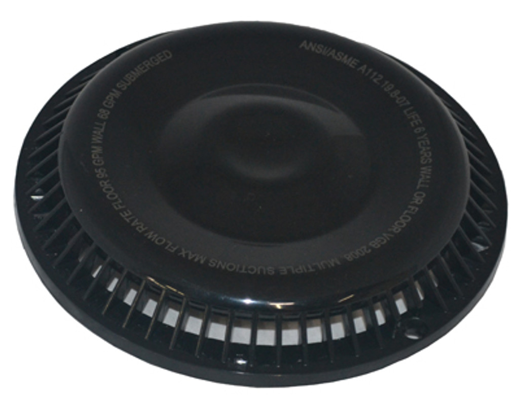 "AFRAS | 7.875"" DIAMETER RING AND COVER - GPM FLOOR 104/WALL 68 - BLACK 