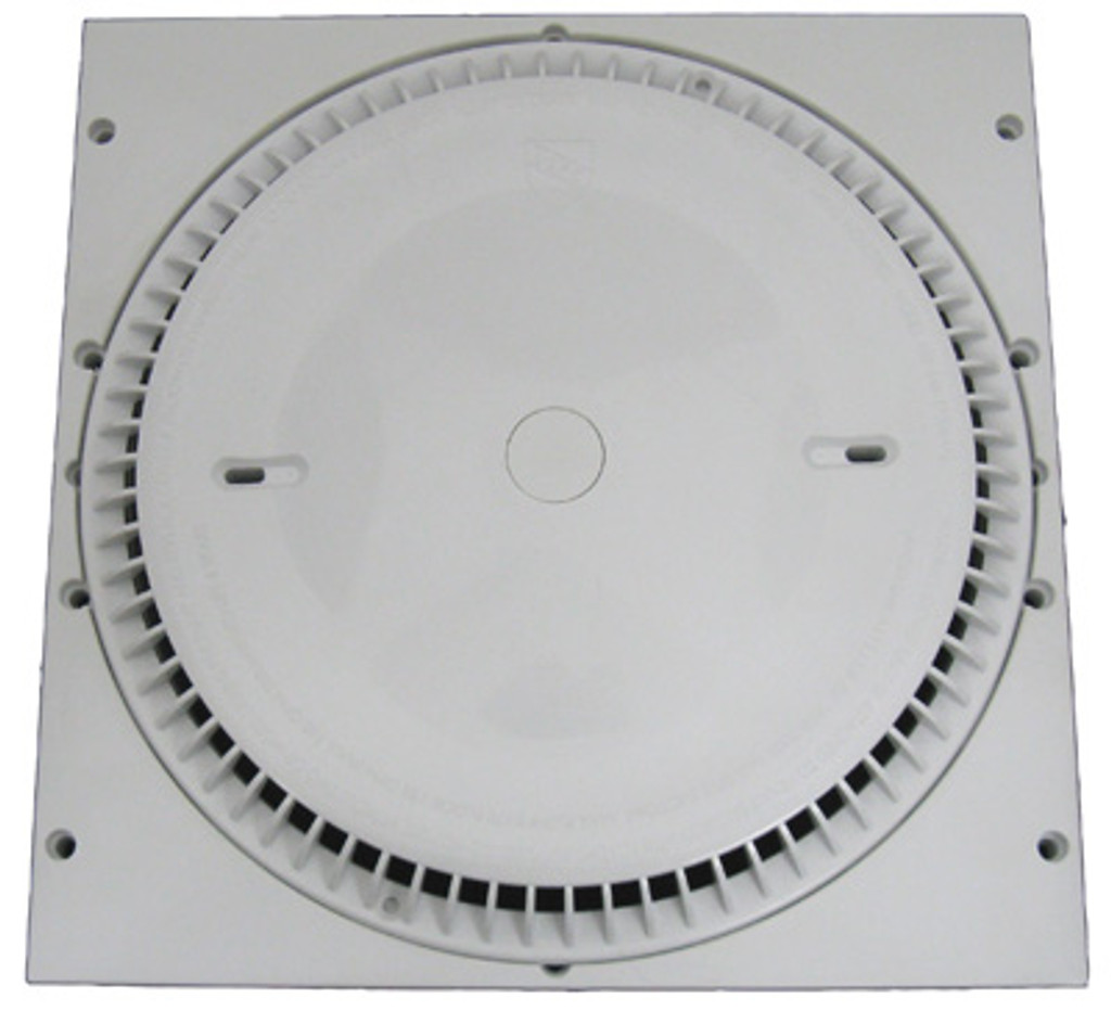 "AFRAS | 12"" X 12"" RINGPLATE AND HIGH CAPACITY COVER REPLACES MOST 12 X 12 FRAMES -GPM FLOOR 188/WALL 160 - WHITE  