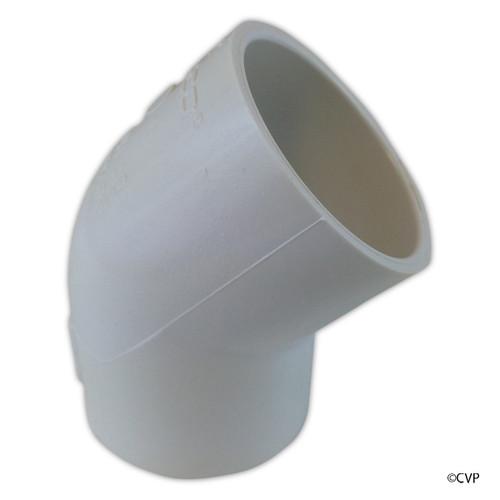 "PVC LASCO | 2"" SLIP 45 DEGREE ELBOW  | 417-020"