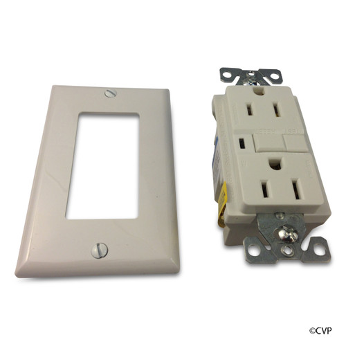 ELETRICAL   15 AMP GFCI RECEPTACLE   WHITE   GFI   VGF15W