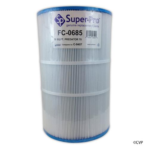 SUPER PRO | CARTRIDGE 75 SQFT PREDATOR | FC-0685 CLEAN & CLEAR