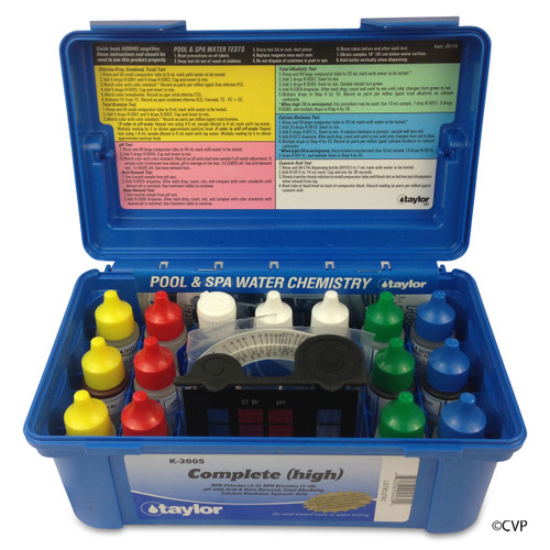 Taylor | Test Kit | 2000 Complete, Alkalinity/Bromine & Chlorine (hi range), DPD/CYA/Hardness/pH, 6-pack | K-2005