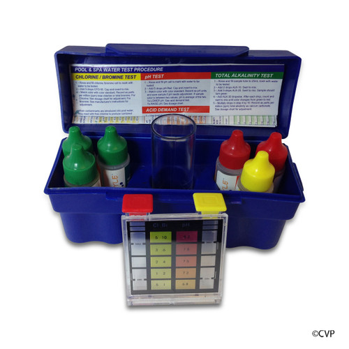 POOL STYLE | OTO TEST KIT 5-WAY CHLORINE, BROMINE, PH, ACID DEMAND, TOTAL ALKALINITY | PS331