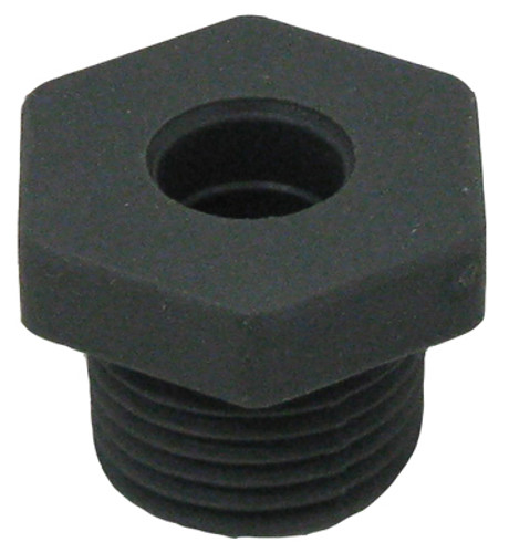 "1/2"" NPT RUBBER FTG, 7/16"" HOLE 