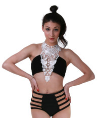 Laced Victorian Tube Top(Black)