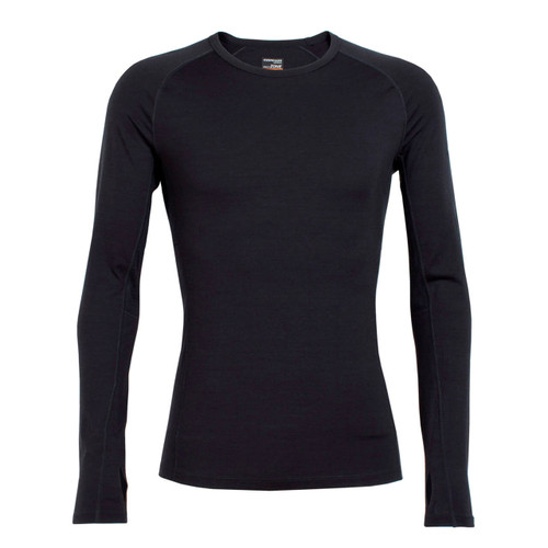 Icebreaker Men's Zone Long Sleeve Crewe - Black