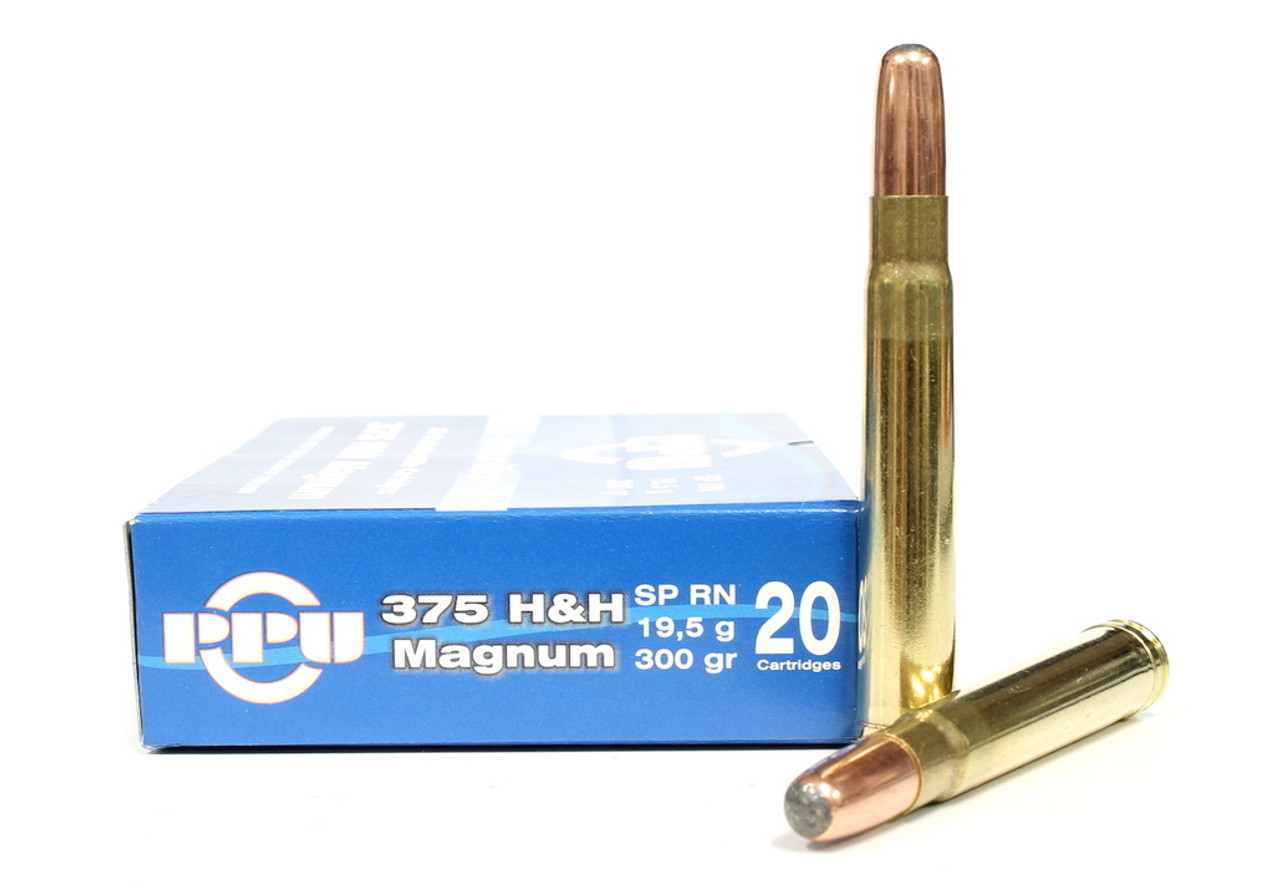 .375 H&H Mag 300 Grain SPRN Prvi Partizan For Sale In