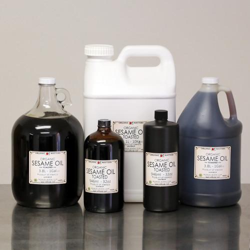 ORGANIC SESAME OIL, toasted, expeller pressed