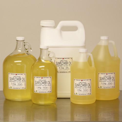 ORGANIC SUNFLOWER OIL, expeller pressed