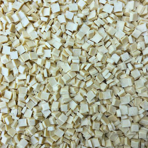 ORGANIC WHITE CHOCOLATE CHUNKS, with Vanilla Bean - close up view