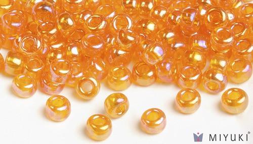 Miyuki 6/0 Transparent AB Glass Beads
