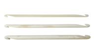 "Nirvana 4"" Bone Double Ended Crochet Hooks"