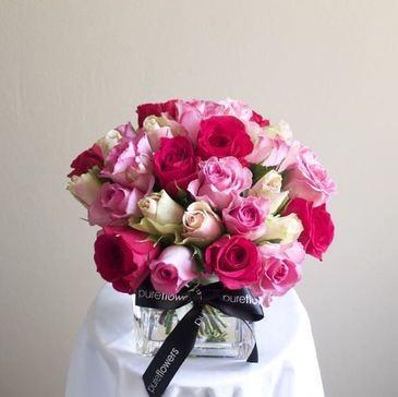 Rose Vase Arrangement