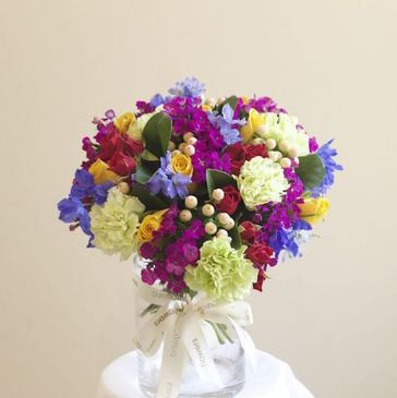 Colourful florals in a vase