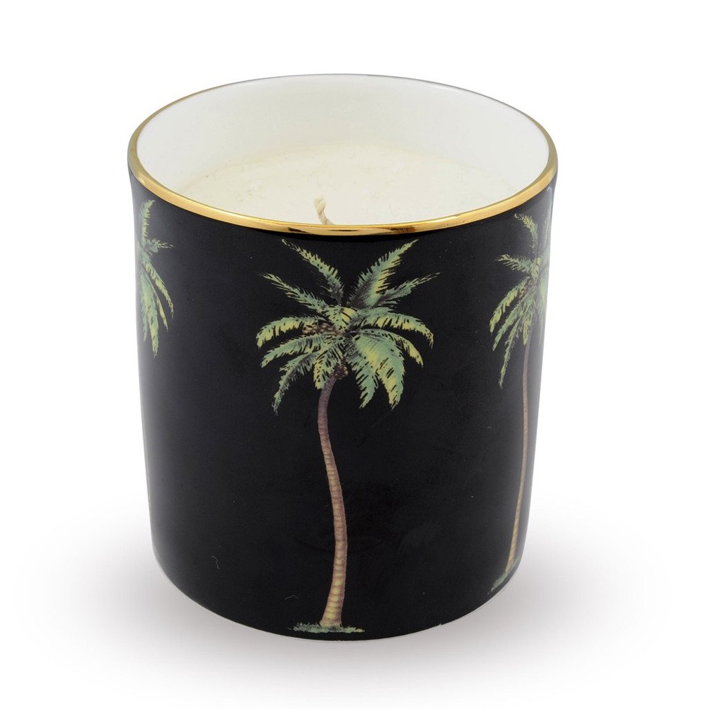 Halcyon Days Palm Black Filled Candle MPN103CA025