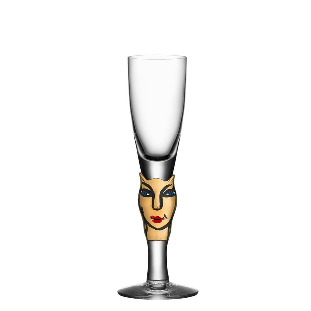 Kosta Boda Open Minds Shot Glass 30Th Anniversary Black 14 Carat Gold MPN: 7091605 EAN: 7321646022922