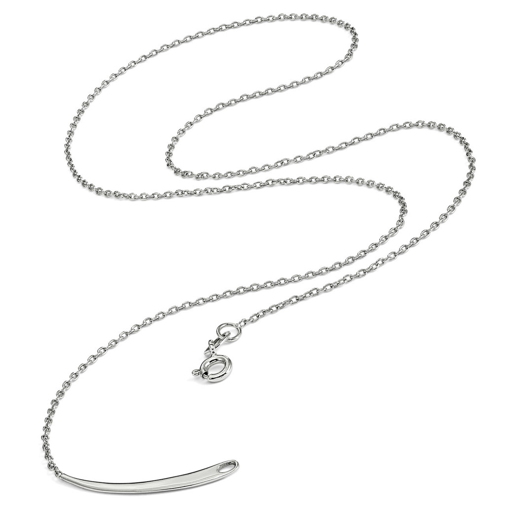 1.4 mm Rhodium Plated Polished Necklace Sterling Silver QSKPEN