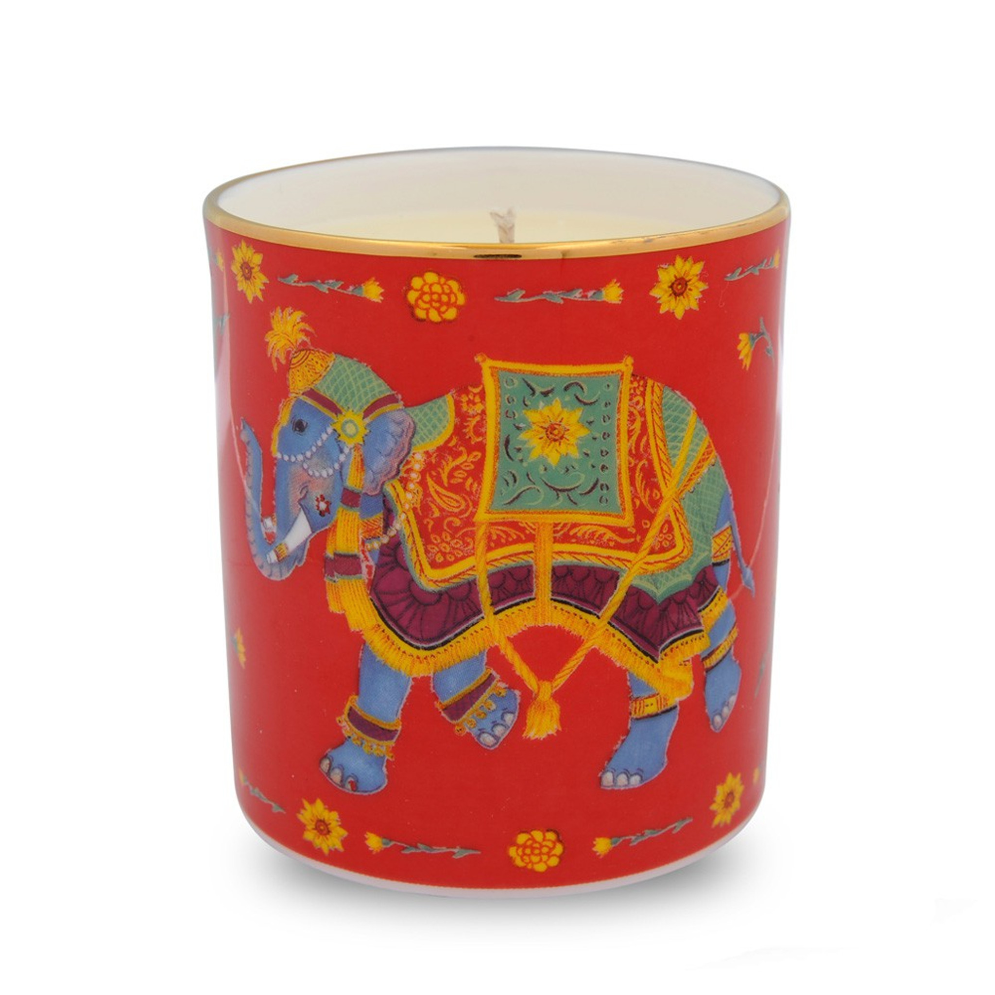 Halcyon Days Ceremonial Elephant Red Candle Bccie06cag Homebello