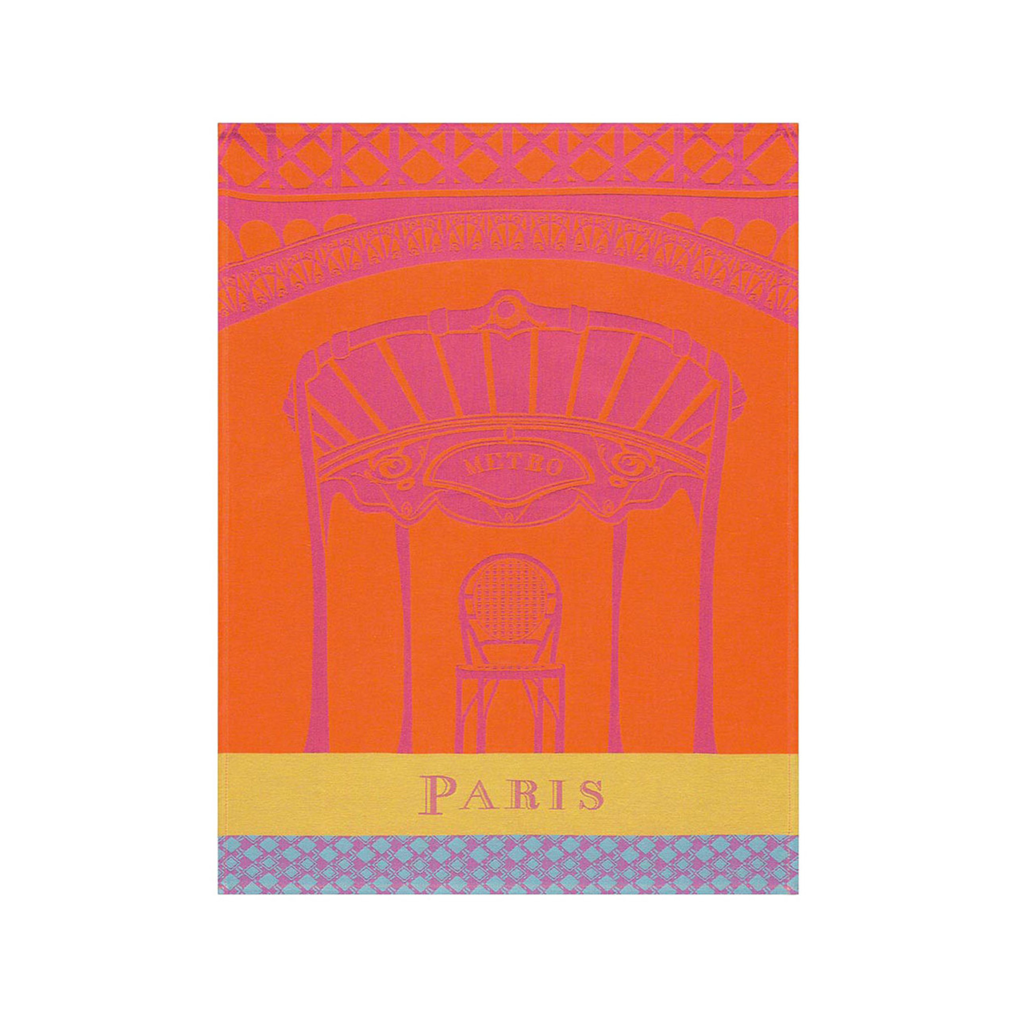 Le jacquard francais paris paris copper tea towel 24 x 31 homebello - Jacquard francais paris ...