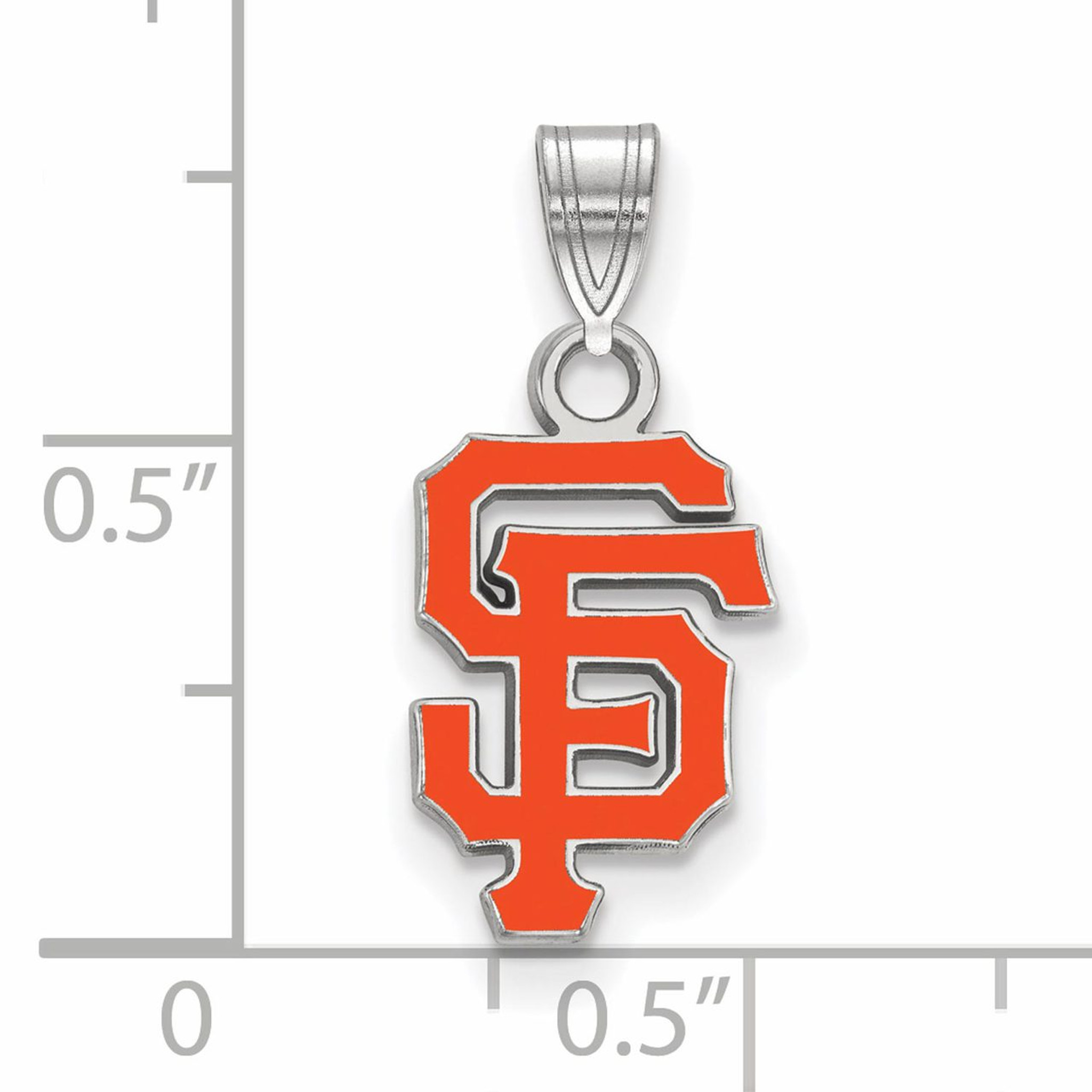 San francisco giants small enamel pendant sterling silver for Sf contact nackenkissen small
